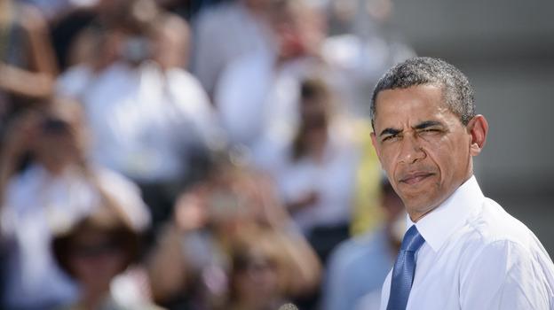 President Obama speaks on the Pariser Platz in front of the Brandenburg Gate on Wednesday in Berlin. (Getty Images)