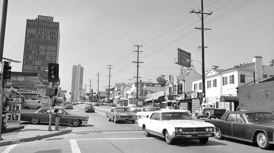 <em>Little Green</em> opens in 1967 and follows Easy Rawlins' search for a young man who disappeared after visiting the Sunset Strip, seen here in 1966. (HF/AP)
