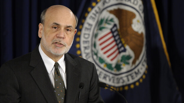 Federal Reserve Chairman Ben Bernanke said Wednesday that a fall in the unemployment rate would not automatically trigger a rise in interest rates. He spoke to the media after the central bank issued a policy update.