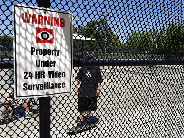 More than 30 parks in Elk Grove are under constant video surveillance, including this skate park at the city's Wackford Community Center.