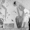Detail from a painting found on the walls of a 4,000-year-old tomb in Luxor, Egypt, that depicts bread making.