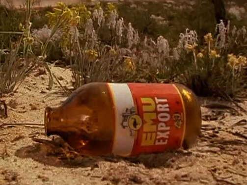 Emu beer bottle
