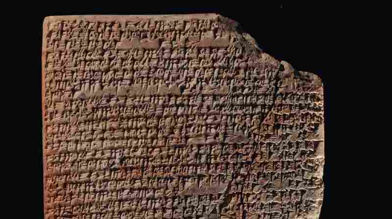 A recipe for kanasu broth  carved on a clay tablet from ancient Mesopotamia, which occupied the land between the Tigris and Euphrates rivers.