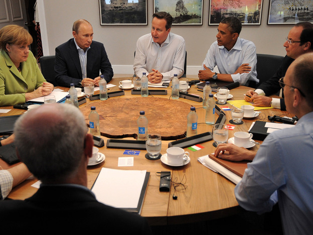 Leaders take part in the G-8 summit in Northern Ireland on Tuesday. Their discussions included tax-avoidance issues.
