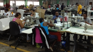Workers at Alta Gracia garment factory make around $500 a month, far above the industry average, though the company has yet to break even since it opened three years ago. Its apparel is sold at hundreds of college bookstores in the U.S.