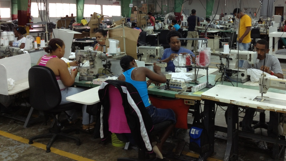 Workers at Alta Gracia garment factory make around $500 a month, far above the industry average, though the company has yet to break even since it opened three years ago. Its apparel is sold at hundreds of college bookstores in the U.S. (NPR)