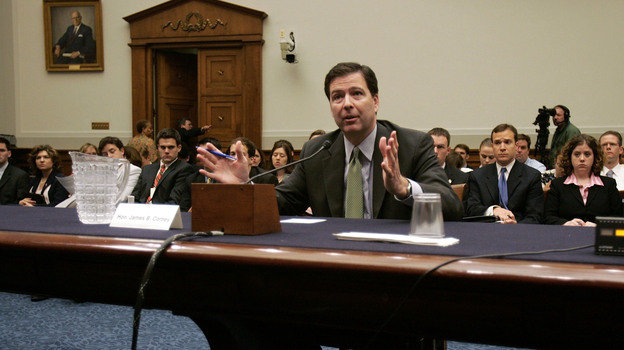 Jim Comey, then deputy attorney general, testifies during a House Judiciary Committee hearing in 2005. (Getty Images)