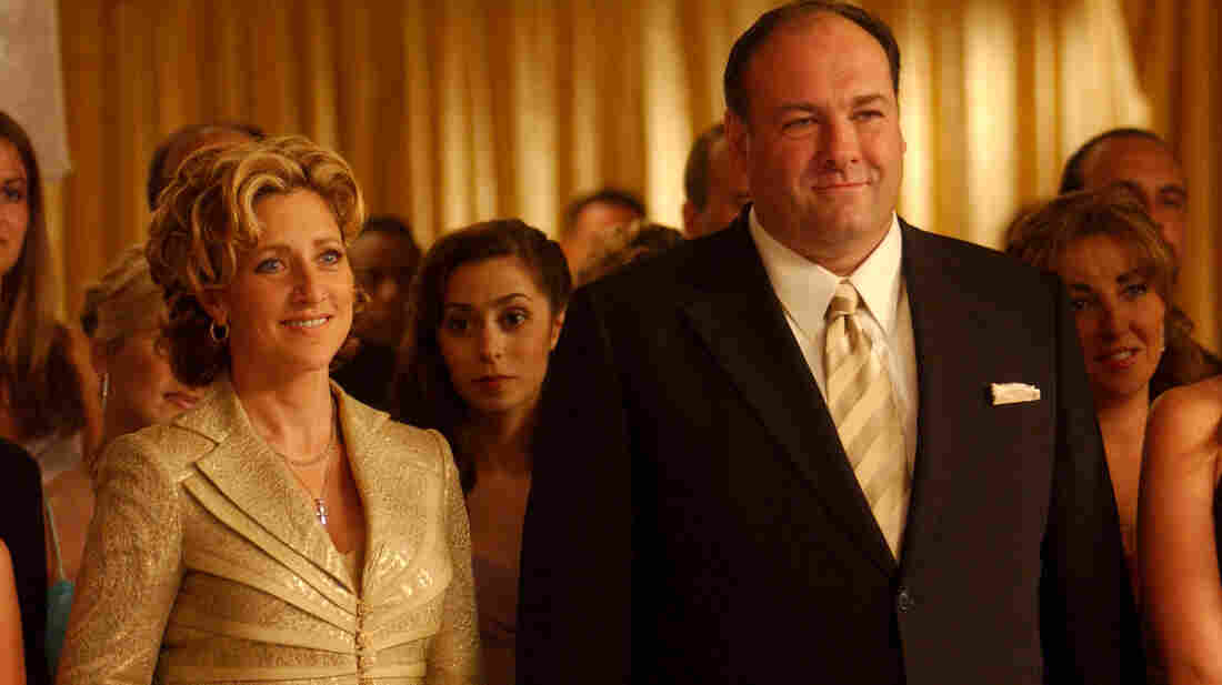 James Gandolfini as Tony Soprano and Edie Falco as his wife, Carmella, in a scene from The Sopranos. Gandolfini died of cardiac arrest in Italy, according to reports citing a doctor at the hospital where was admitted.