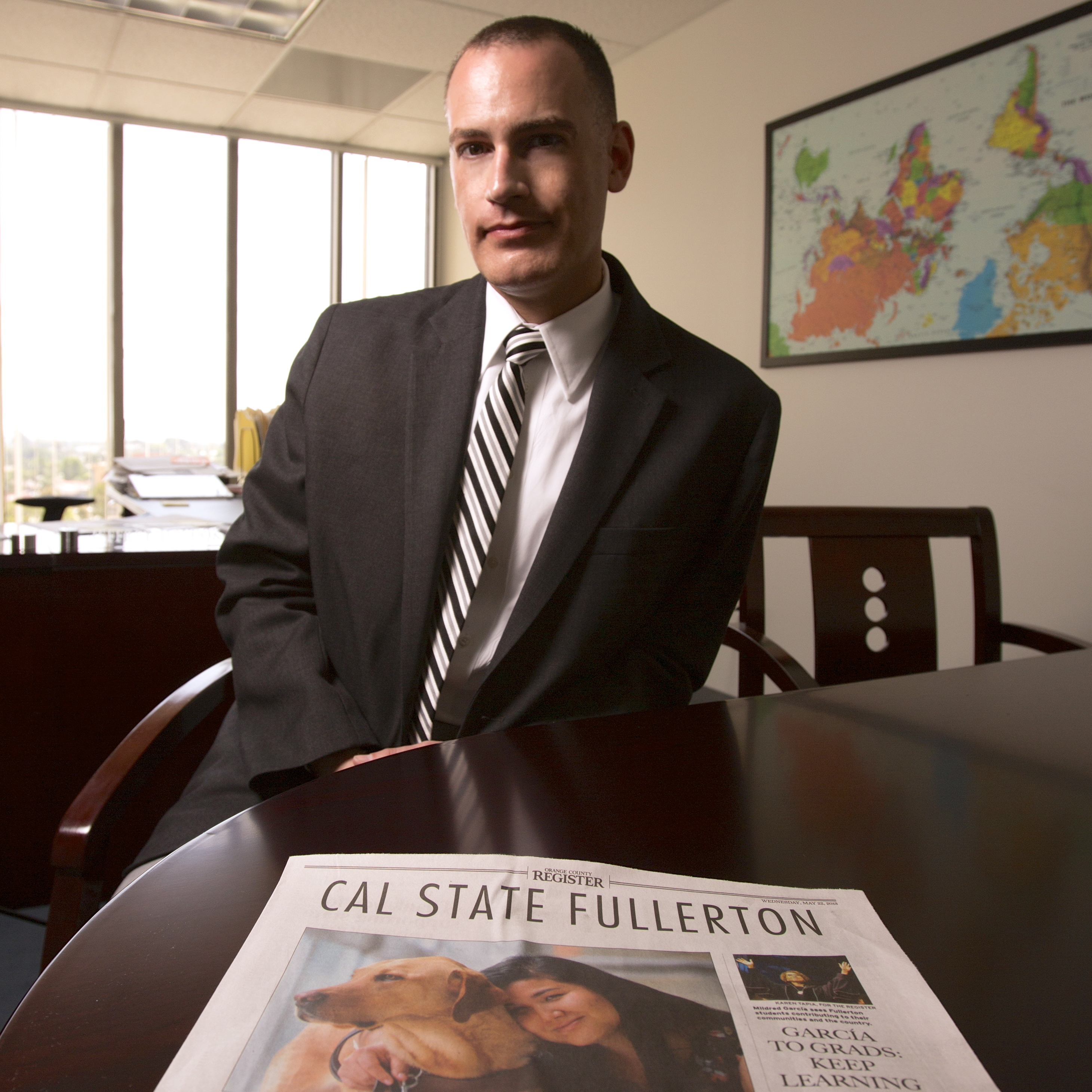Jeffrey Cook, chief communications officer at Cal State, Fullerton, says The Orange County Register's proposal to have local universities fund the paper's coverage of them seemed almost too good to be true.