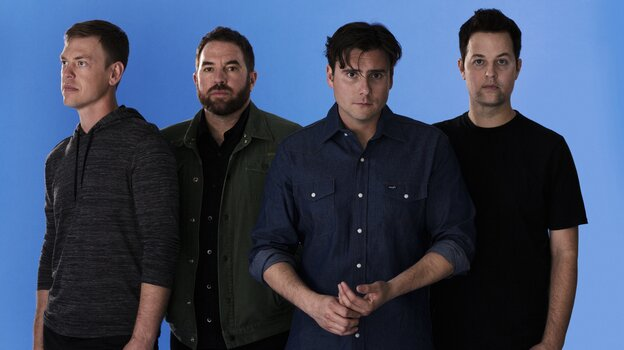 Jimmy Eat World's new album, Damage, is its eighth in 20 years together. Left to right: Rick Burch, Zach Lind, Jim Adkins and Tom Linton.