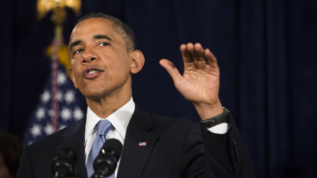 In San Jose, Calif., on June 6, President Obama encouraged people to sign up for insurance in the nation's largest health insurance market. (Getty Images)