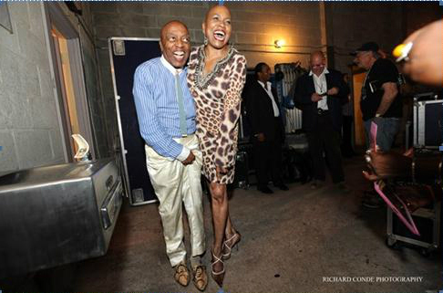 Roy Haynes and Dee Dee Bridgewater love each other's shoes.