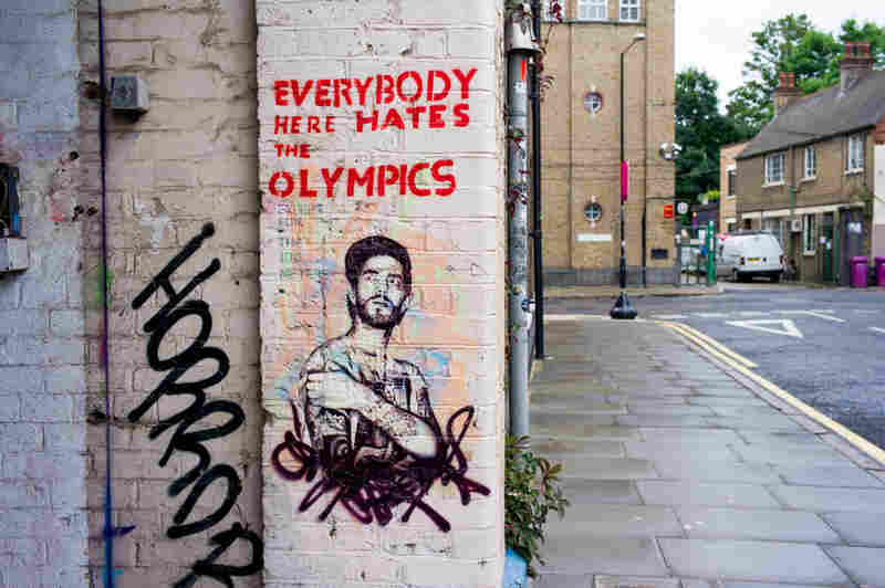 Street art, Hackney Wick, London. The 2012 Summer Games were in London.