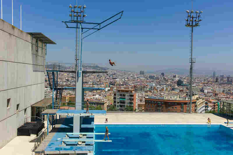 "High Dive, Montjuic Municipal Pool, Barcelona, where the 1992 Summer Games took place. Kylie Minogue used the pool as the setting for her music video for the song ""Slow."""