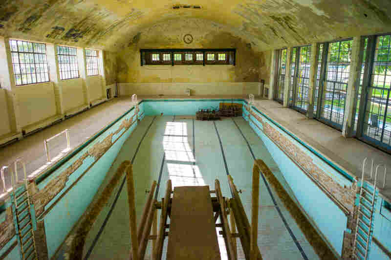 Swimming pool, Olympic Village, Berlin. The 1936 Summer Games were in Berlin.