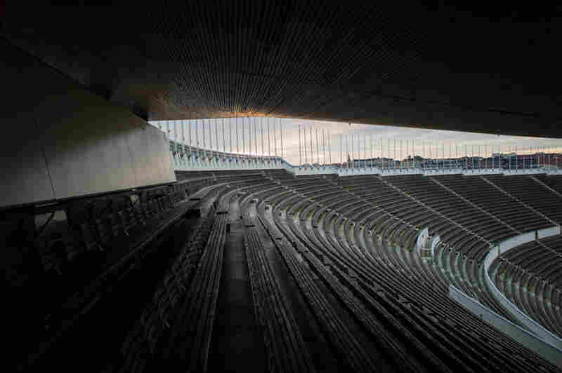 Olympic Stadium, Helsinki. Built for the 1940 Olympics, which were canceled owing to World War II.