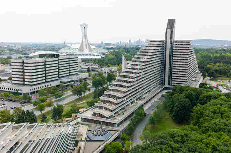 The Olympic Village, or housing built for the 1976 Olympic athletes in Montreal, was designed by Roger Tallibert and converted into residential apartments immediately after the games.