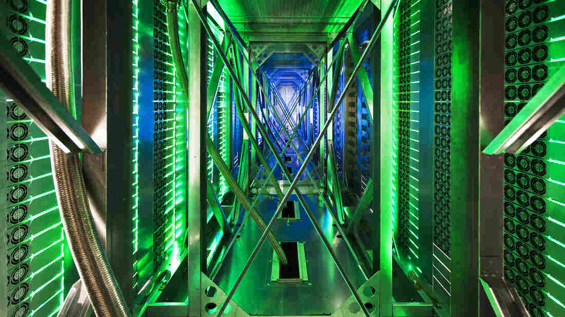 Hundreds of fans help cool computer servers at a Google data center in Mayes County, Okla. Google, Microsoft and other tech companies have been providing user data to the National Security Agency.