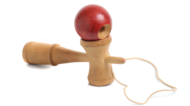 The traditional Kendama is making a splash with kids. (iStockphoto.com)