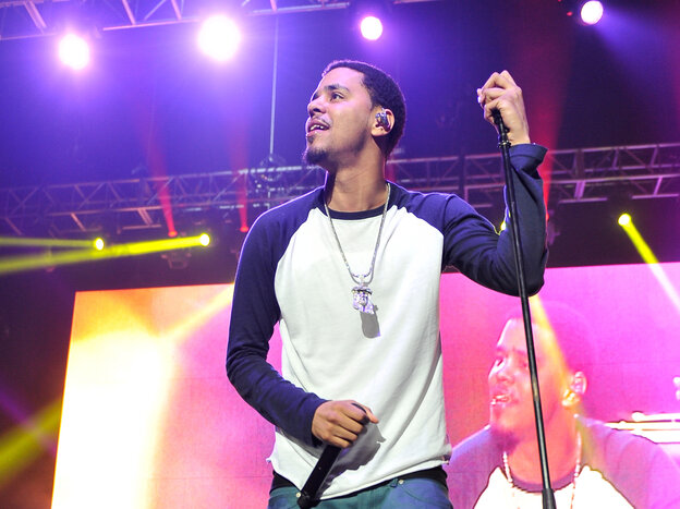 J. Cole performing at KMEL Summer Jam in Oakland, Calif., on June 9.