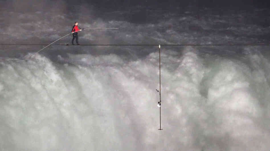 High-Wire Artist Nik Wallenda Walks Across Arizona Gorge