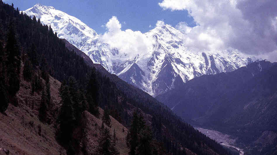 A 2003 photograph of majestic Nanga Parbat, one of a number of 8,000-plus-meter peaks that attract the most adventurous Himalayan mountaineers.
