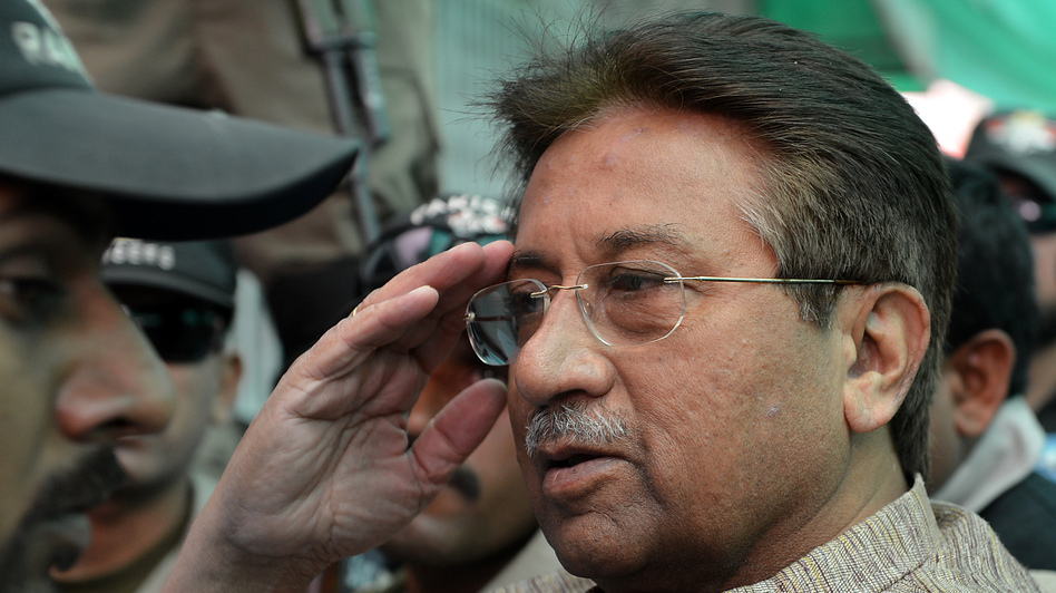 Former Pakistani President Pervez Musharraf at an anti-terrorism court in Islamabad on April 20. (AFP/Getty Images)