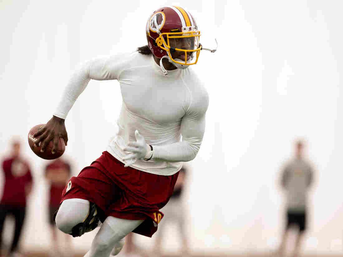 Washington Redskins quarterback Robert Griffin III already promotes Subway sandwiches. Will health insurance be next?