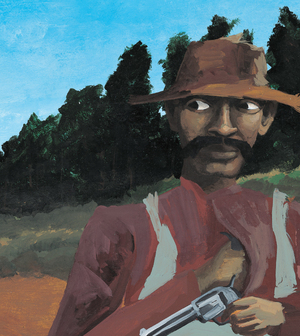 Bad News For Outlaws tells the true story of Bass Reeves, an African-American U.S. marshal in the Old West — shown here disguised as a farmer. The book won a Coretta Scott King award and became one of Lerner Books' best-selling titles.