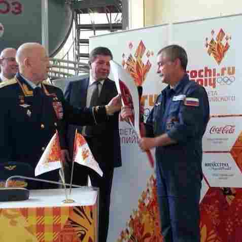 Olympic Torch (But Not Olympic Flame) Headed To Space