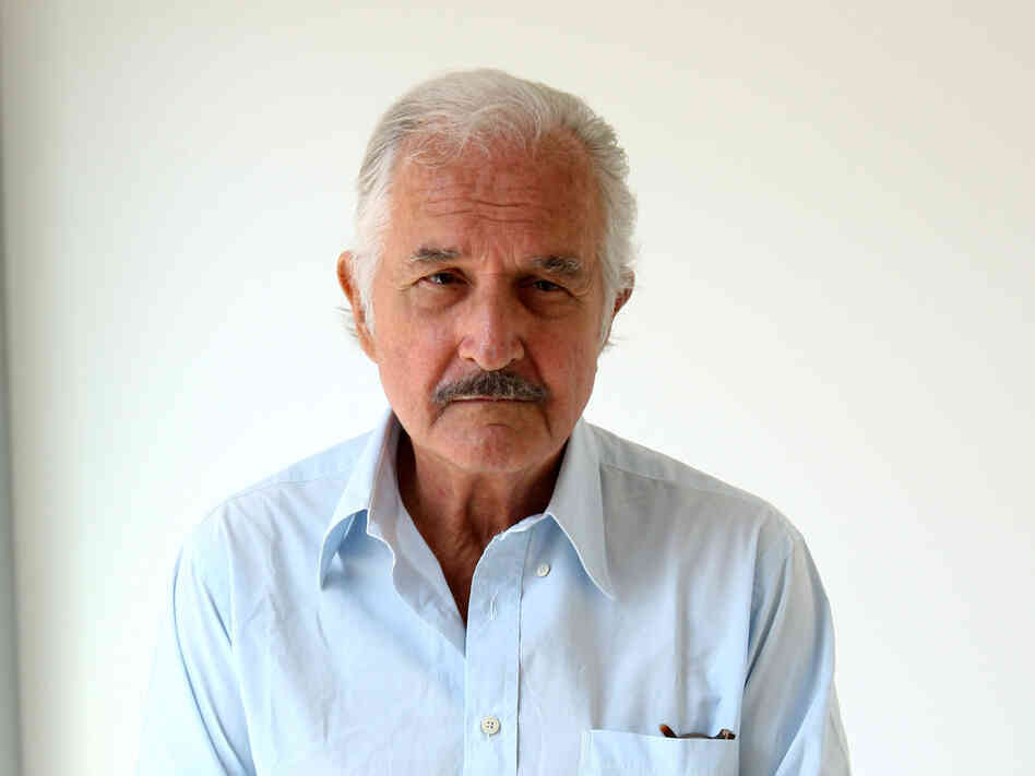 Author Carlos Fuentes at a 2008 cocktail party for writers at Sala Buzzati in Milan, Italy.