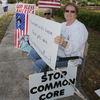 Tea Party members protest Common Core in Ocala, Fla., in April. The new educational standards, adopted by almost all the states, are the object of a growing conservative backlash.