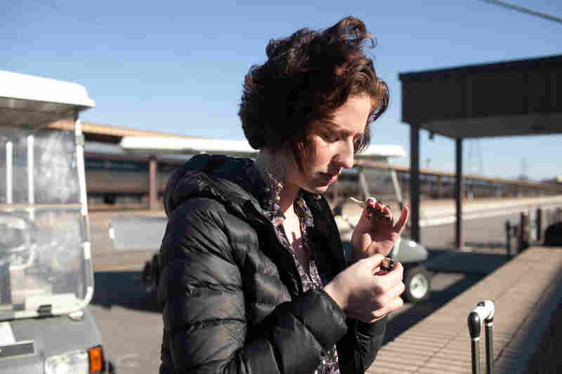Eden is a prostitute who was recently arrested and is awaiting a court hearing. Here, she waits outside the Richmond, Va., train station for her mother to pick her up.