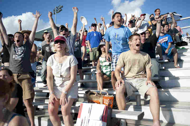 As the game came to an end, fans got on their feet and applauded the final plays of Major League Ultimate's first regular season.