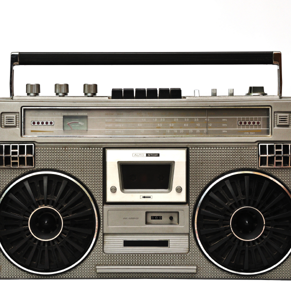 For much of the 1980s, boom boxes like this one were the main way many people listened to music.