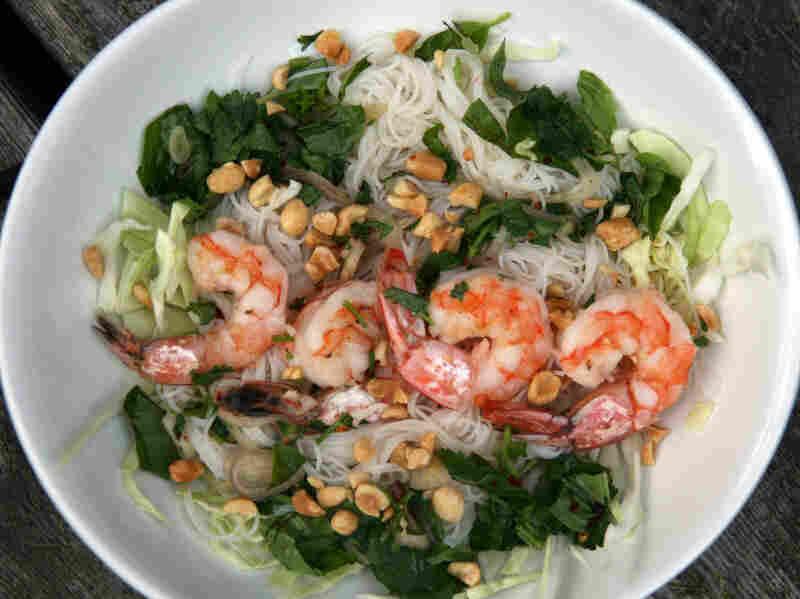 Southeast Asian Shrimp and Rice Noodle Salad