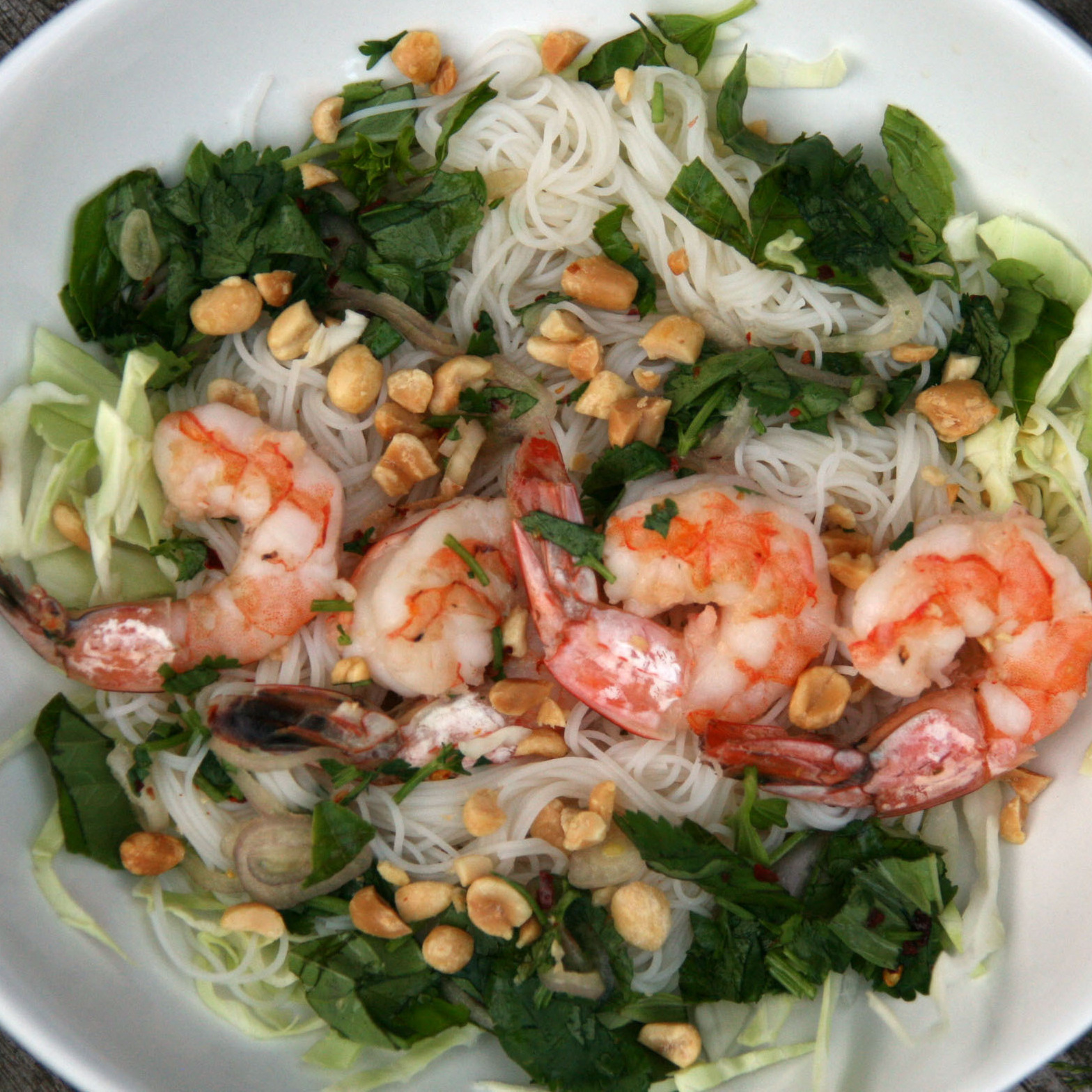 Southeast Asian Shrimp and Rice Noodle Salad