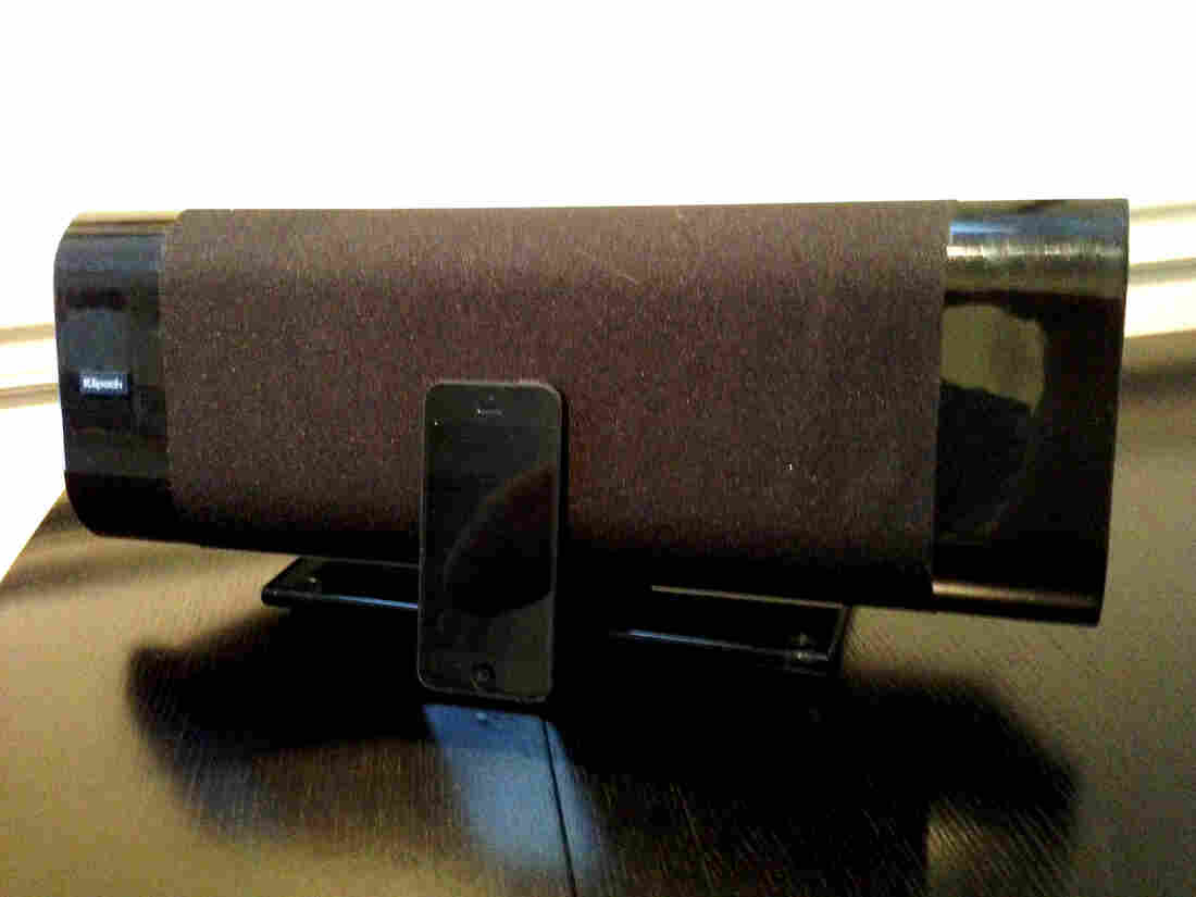 My current stereo has been downsized for a small space, but still has a full sound. It's just an iPhone with the wireless Klipsch G-17 Airplay.