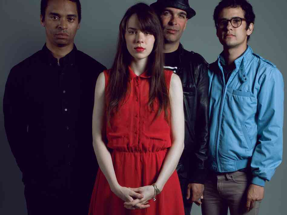 Bosnian Rainbows, left to right: Deantoni Parks, Teri Gender Bender, Nicci Kasper, Omar Rodriguez Lopez. The band's self-titled debut comes out Tuesday.