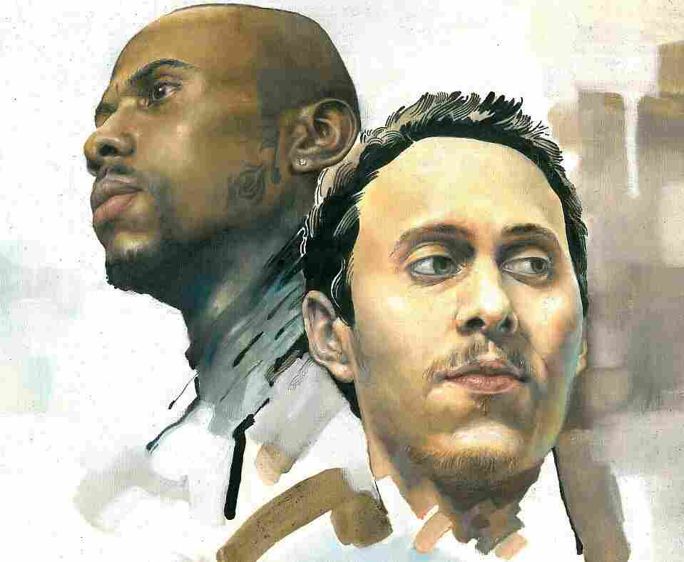Rappers Apache and Canserbero.