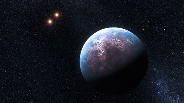 An artist's impression of one of the super-Earth's surrounding the star Glies