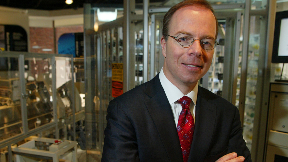 McKesson CEO John Hammergren, seen here in 2005, has what analysts call the largest pension on record, at $159 million. In his 14 years in a leadership role, the drug distributor's revenues have quadrupled.