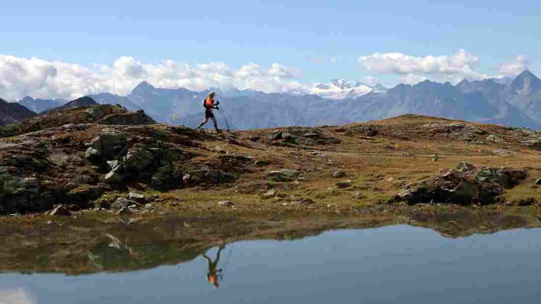 Runners test the limits of their strength in Italy's Valle D'Aosta.