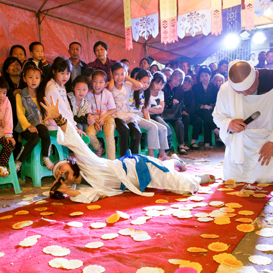 Dingding Mao is a professional mourner, who is paid for her talents at singing the funeral dirge. This is a tradition that began in the Han dynasty 2,000 years ago.