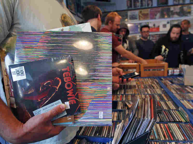 Buyers browse the racks at Main Street Music in Philadelphia during the fifth annual Record Store Day in April.