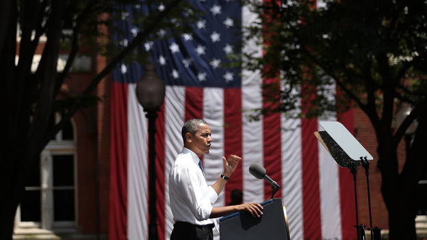 President Obama unveils his plan on climate change Tuesday at Georgetown University in Washington, D.C. The president laid out his plan to reduce carbon pollution and to prepare the country for the impacts of climate change. (Getty Images)