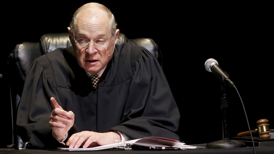 U.S. Supreme Court Justice Anthony Kennedy has now written two landmark gay rights decisions. (AP)
