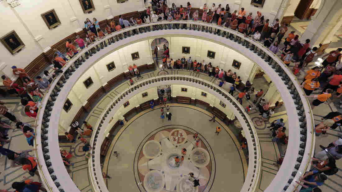 The Texas Capitol rotunda filled with supporters of state Sen. Wendy Davis, D-Fort Worth, who filibustered a controversial abortion bill.