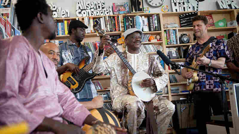 Cheick Hamala Diabate performs a Tiny Desk Concert in the NPR Music offices.
