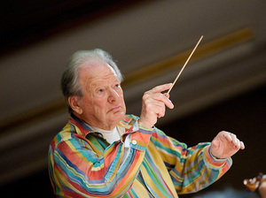 Conductor Neville Marriner.